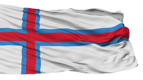Isolated Waving National Flag of Faroe Islands - stock footage