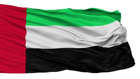 Isolated Waving National Flag of United Arab Emirates - stock footage