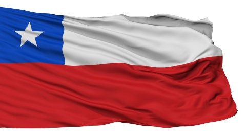 Isolated Waving National Flag of Chile - stock footage