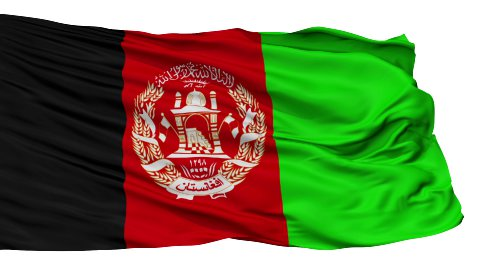 Isolated Waving National Flag of Afghanistan - stock footage