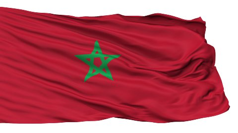Isolated Waving National Flag of Morocco - stock footage
