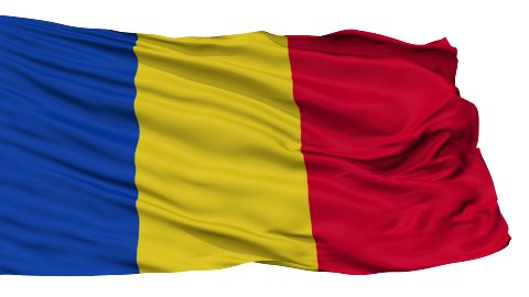 Isolated Waving National Flag of Romania - stock footage