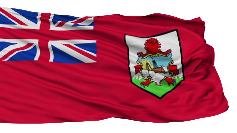 Isolated Waving National Flag of Bermuda - stock footage