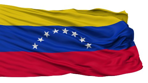 Isolated Waving National Flag of Venezuela - stock footage