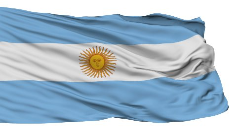 Isolated Waving National Flag of Argentina - stock footage