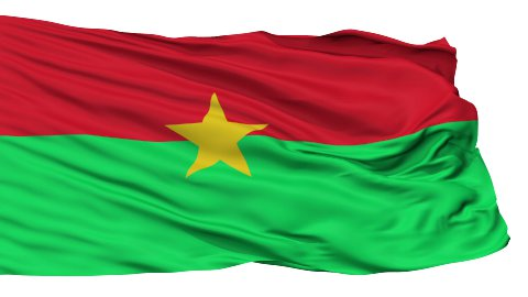 Isolated Waving National Flag of Burkina Faso - stock footage