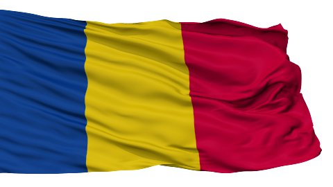 Isolated Waving National Flag of Chad - stock footage