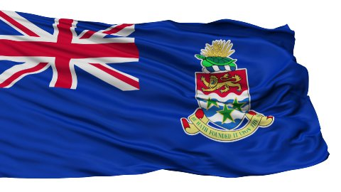Isolated Waving National Flag of Cayman Islands - stock footage