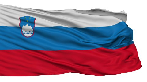 Isolated Waving National Flag of Slovenia - stock footage