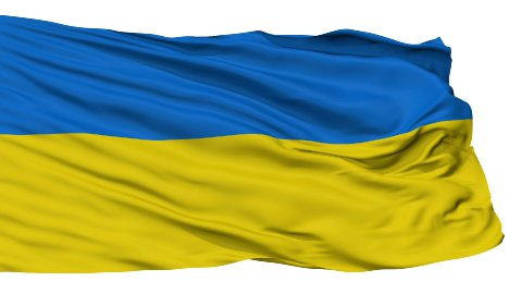 Isolated Waving National Flag of Ukraine - stock footage