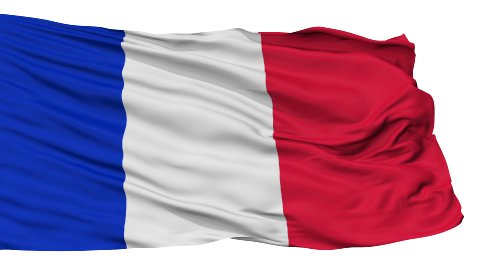 Isolated Waving National Flag of France - stock footage