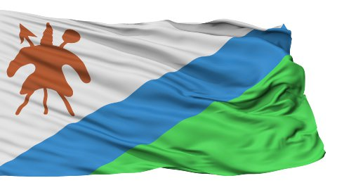 Isolated Waving National Flag of Lesotho - stock footage