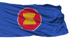 Isolated Waving Flag of Asean