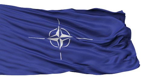 Isolated Waving Flag of Nato - stock footage