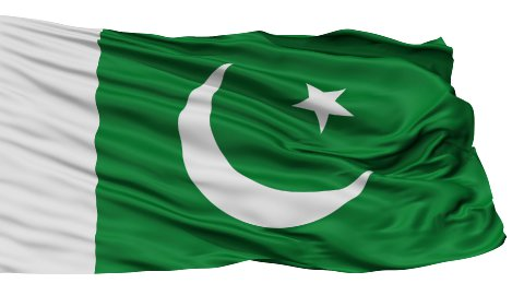 Isolated Waving National Flag of Pakistan - stock footage