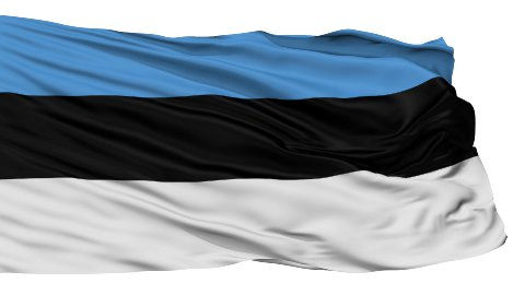 Isolated Waving National Flag of Estonia - stock footage