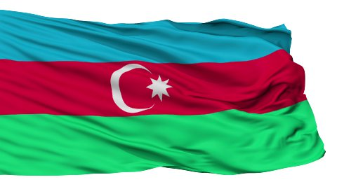 Isolated Waving National Flag of Azerbaijan - stock footage