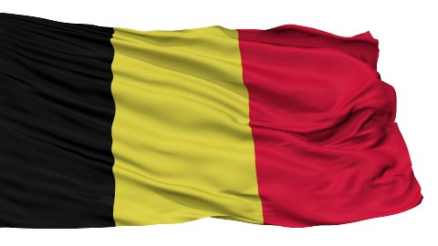 Isolated Waving National Flag of Belgium - stock footage
