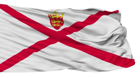 Isolated Waving National Flag of Jersey - stock footage