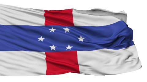 Isolated Waving National Flag of Netherlands Antilles - stock footage