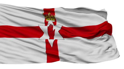 Isolated Waving National Flag of Northern Ireland - stock footage