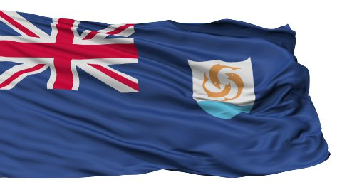 Isolated Waving National Flag of Anguilla - stock footage