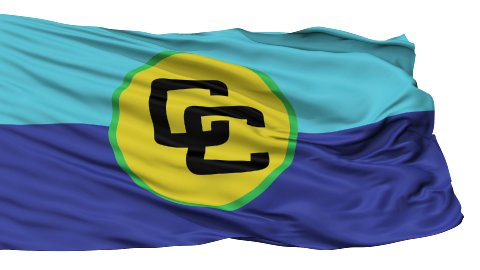 Isolated Waving Flag of Caricom - stock footage