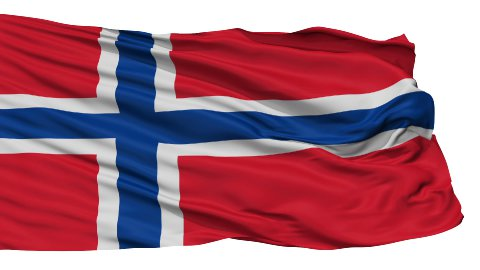 Isolated Waving National Flag of Norway - stock footage