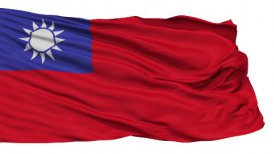 Isolated Waving National Flag Republic of China - motion graphic
