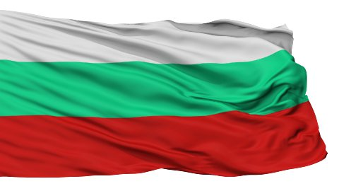 Isolated Waving National Flag of Bulgaria - stock footage