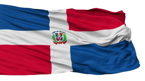 Isolated Waving National Flag of Dominican Republic - stock footage
