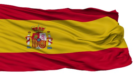 Isolated Waving National Flag of Spain - stock footage