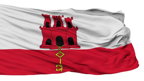 Isolated Waving National Flag of Gibraltar - stock footage