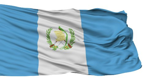 Isolated Waving National Flag of Guatemala - stock footage