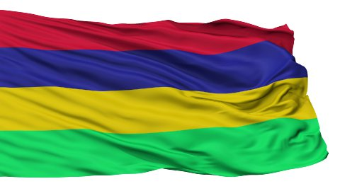 Isolated Waving National Flag of Mauritius - stock footage