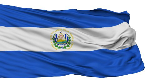 Isolated Waving National Flag of El Salvador - stock footage