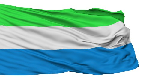 Isolated Waving National Flag of Sierra Leone - stock footage