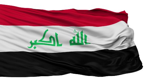 Isolated Waving National Flag of Iraq - stock footage