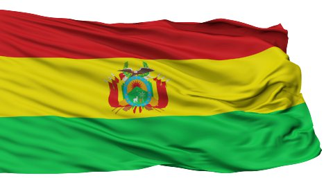 Isolated Waving National Flag of Bolivia - stock footage