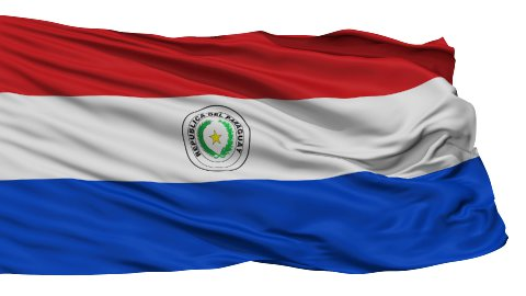 Isolated Waving National Flag of Paraguay - stock footage