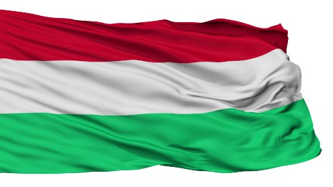 Isolated Waving National Flag of Hungary - stock footage