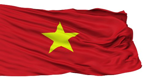 Isolated Waving National Flag of Vietnam - stock footage