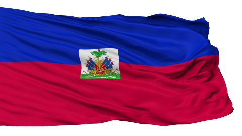 Isolated Waving National Flag of Haiti - stock footage