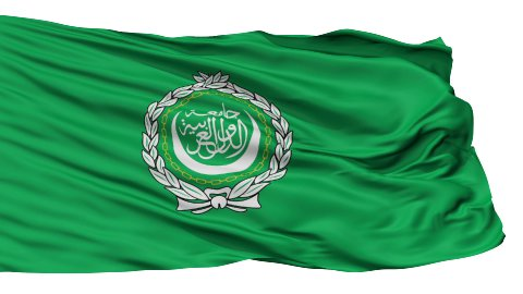Isolated Waving Flag of Arab League - stock footage
