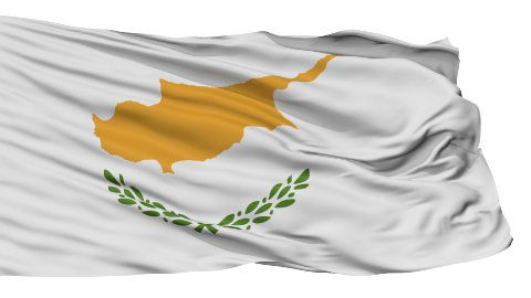 Isolated Waving National Flag of Cyprus - stock footage