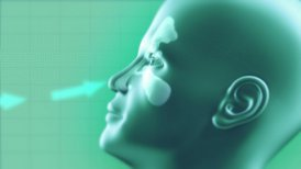 Nasal Sinuses Infection Cured by Medicine - editable clip, motion graphic, stock footage