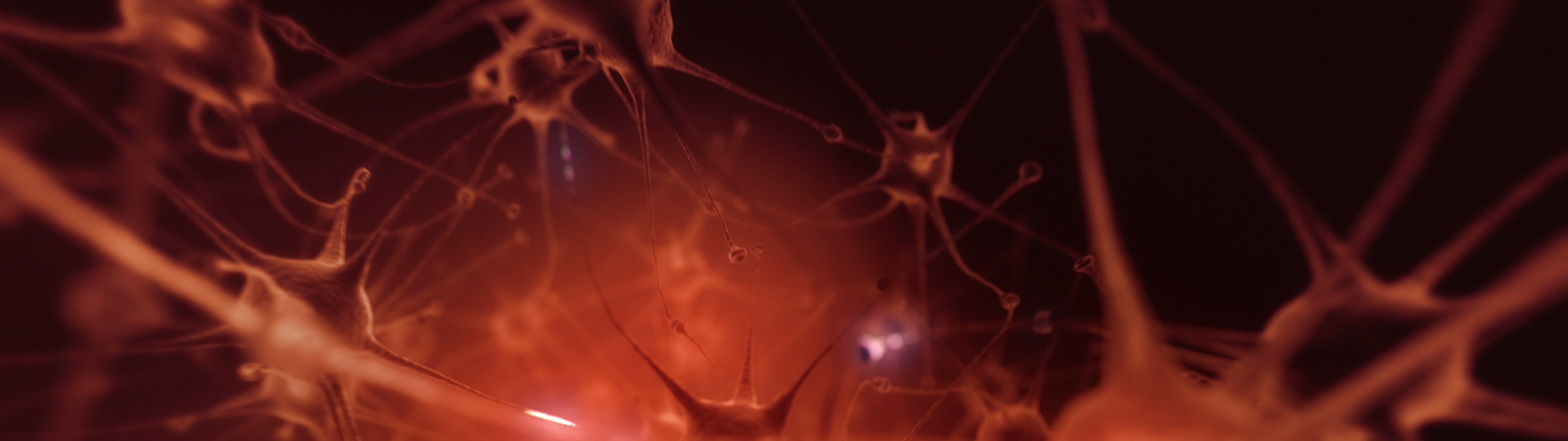 Neurons | Flight through human neural network. DOF  - ID:22834