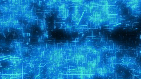 Blue cyberspace - stock footage