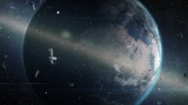 Space debris - motion graphic