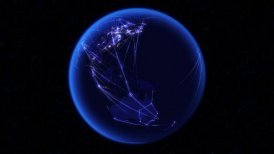 Global communications through the global network of connections. - motion graphic